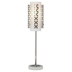 Prescott Polished Nickel One-Light Table Lamp