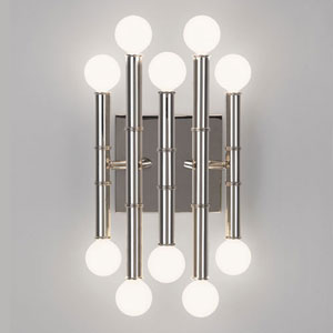 Statement Polished Nickel Ten-Light Sconce