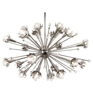 Celestial Polished Nickel 34-Inch 24-Light Chandelier