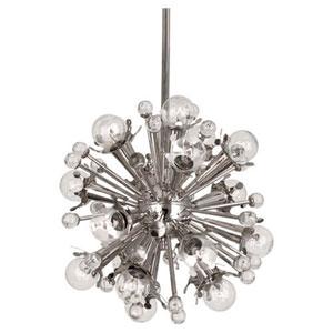 Celestial Polished Nickel 18-Light Chandelier