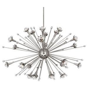 Celestial Polished Nickel 48-Inch 24-Light Chandelier