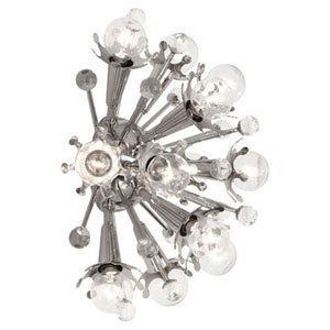 Celestial Polished Nickel 14-Inch Twelve-Light Sconce