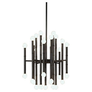 Statement Deep Patina Bronze 30-Light Chandelier