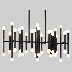 Statement Deep Patina Bronze 42-Light LED Chandelier