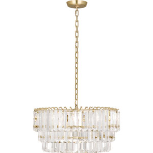 Fulham Modern Brass Two-Light Chandelier