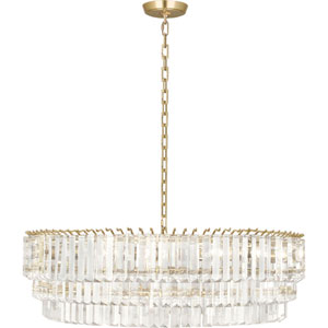 Fulham Modern Brass Six-Light Chandelier