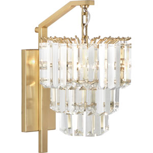Fulham Modern Brass Two-Light Wall Sconce