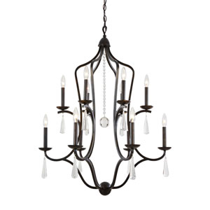 Trinity English Bronze Twelve-Light Chandelier