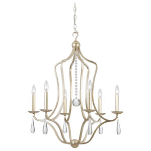 Trinity Silver Leaf Six-Light Chandelier