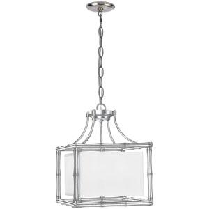 Laurel Antique Silver 15-Inch Wide Four-Light Pendant