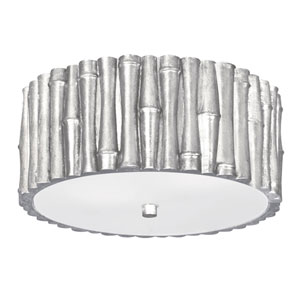 Laurel Antique Silver Two-Light Flush Mount