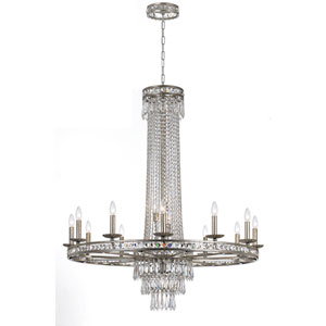 Inverness Silver Sixteen-Light Crystal Chandelier