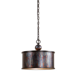Reese Oxidized Bronze Drum Pendant