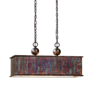 Reese Oxidized Bronze Two-Light Island Pendant