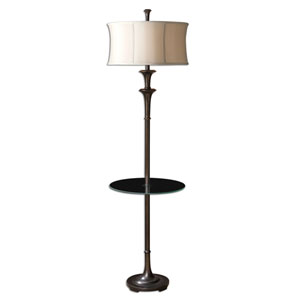 Hayward Oil Rubbed Bronze Floor Lamp with Table