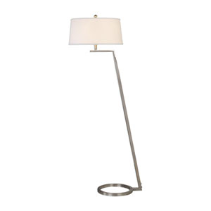 Expo Nickel Open Ring Floor Lamp