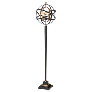 Cosmic Dark Oil Rubbed Bronze and Gold Three-Light Floor Lamp