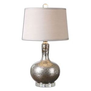 Brecken Gray Mercury Glass Table Lamp
