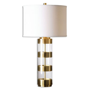Vaughn Brushed Brass and Acrylic Table Lamp