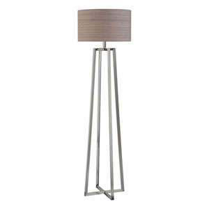 Wellesley Polished Nickel Floor Lamp