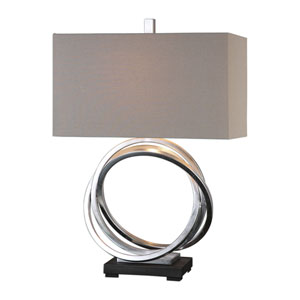 Nichols Silver Rings Table Lamp