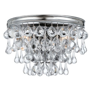 Hopewell Polished Chrome Two-Light Wall Sconce with Clear Crystal