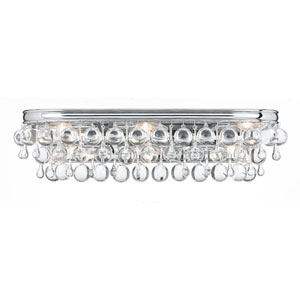 Hopewell Polished Chrome Six-Light Vanity with Clear Crystal