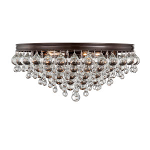 Hopewell Bronze Six-Light Flush Mount