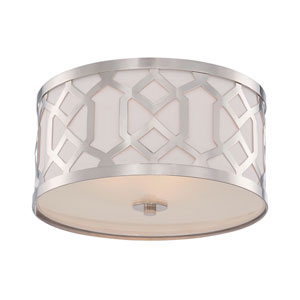 Darling Polished Nickel Three-Light Drum Flush Mount