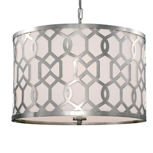 Darling Polished Nickel 24-Inch Five-Light Drum Pendant