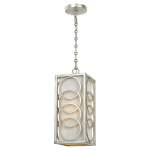 Mulberry Antique Silver One-Light Mini Pendant