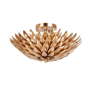 Rosemary Antique Gold Four-Light Flush Mount
