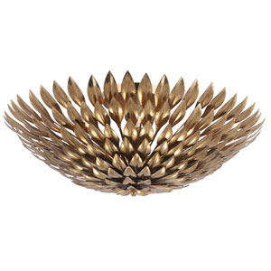 Rosemary Antique Gold Six-Light Flush Mount