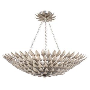 Rosemary Antique Silver Six-Light Bowl Semi-Flush Mount