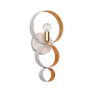 Raglan Matte White and Gold One-Light Wall Sconce