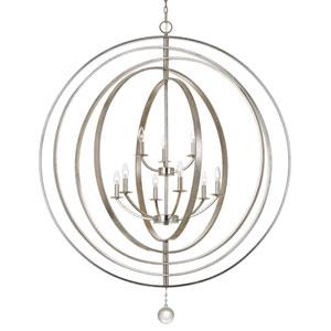 Raglan Antique Silver Nine-Light Chandelier