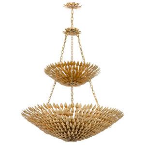 Rosemary Antique Gold Eighteen-Light Chandelier