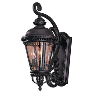 Augustus Black Three-Light Outdoor Wall Mount