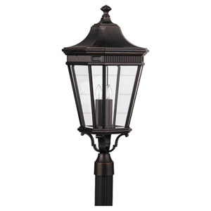 Lafayette Bronze 12-Inch Three-Light Outdoor Post Mount