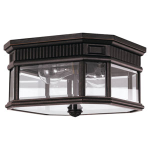 Lafayette Bronze Two-Light Outdoor Flush Mount