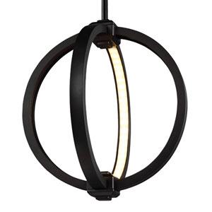 Luminarian Rubbed Bronze 12-Inch LED Globe Pendant