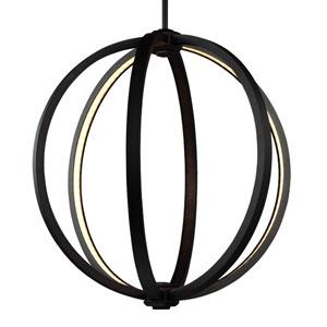 Luminarian Rubbed Bronze 20-Inch LED Globe Pendant