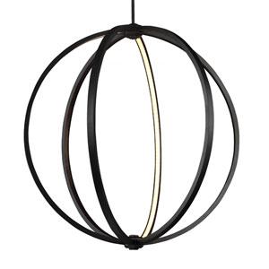 Luminarian Rubbed Bronze 30-Inch LED Globe Pendant