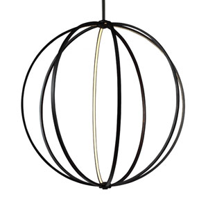 Luminarian Rubbed Bronze 48-Inch LED Globe Pendant