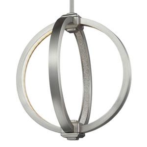 Luminarian Satin Nickel 12-Inch LED Globe Pendant