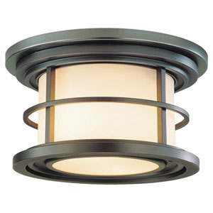 Rhett Bronze Two-Light Outdoor Flush Mount