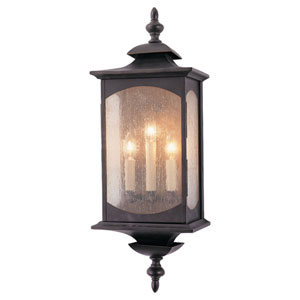 Kahler Rubbed Bronze Three-Light Outdoor Wall Mount