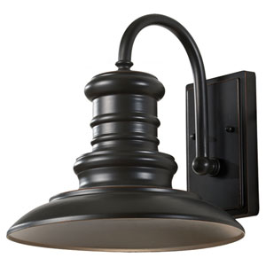 Beauport Bronze 12-Inch One-Light Outdoor Gooseneck Wall Mount