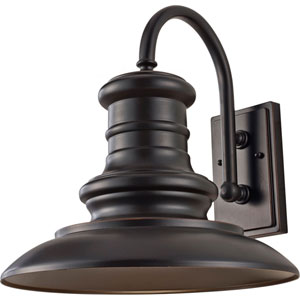 Beauport Bronze 15-Inch One-Light Outdoor Gooseneck Wall Mount
