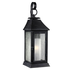 Weston Dark Weathered Zinc 17-Inch One-Light Outdoor Wall Sconce